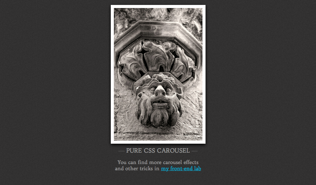Pure CSS carousel [dissolving images]