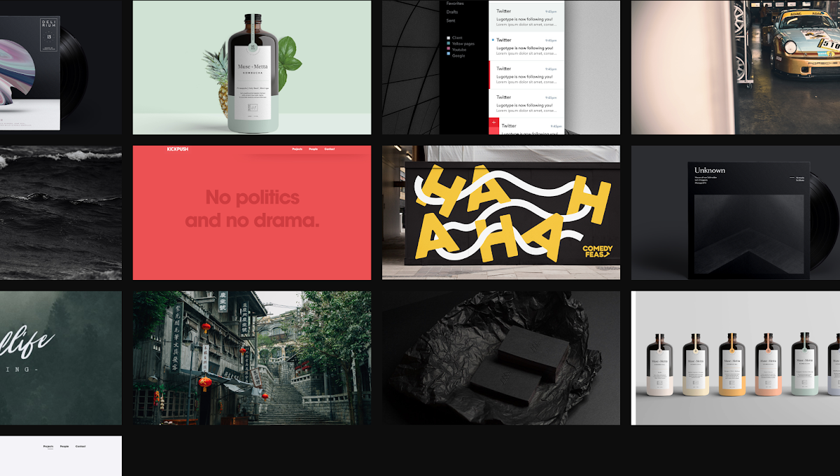 Responsive inspiration gallery