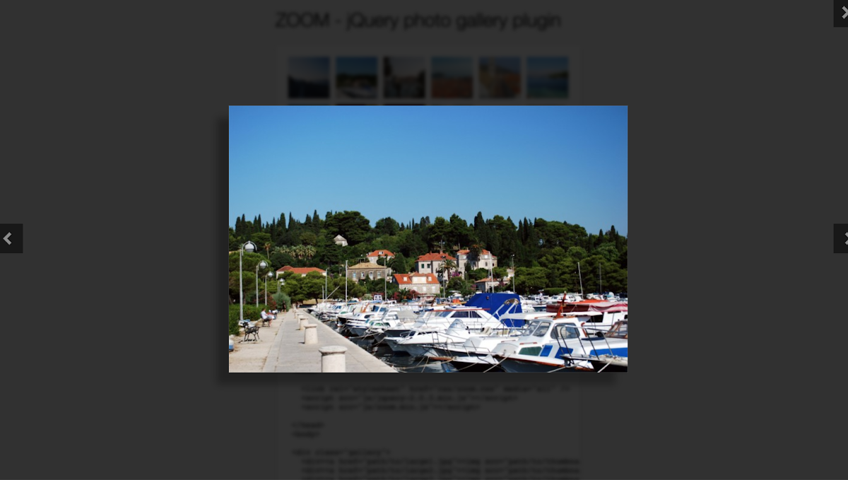 ZOOM - jQuery photo gallery plugin