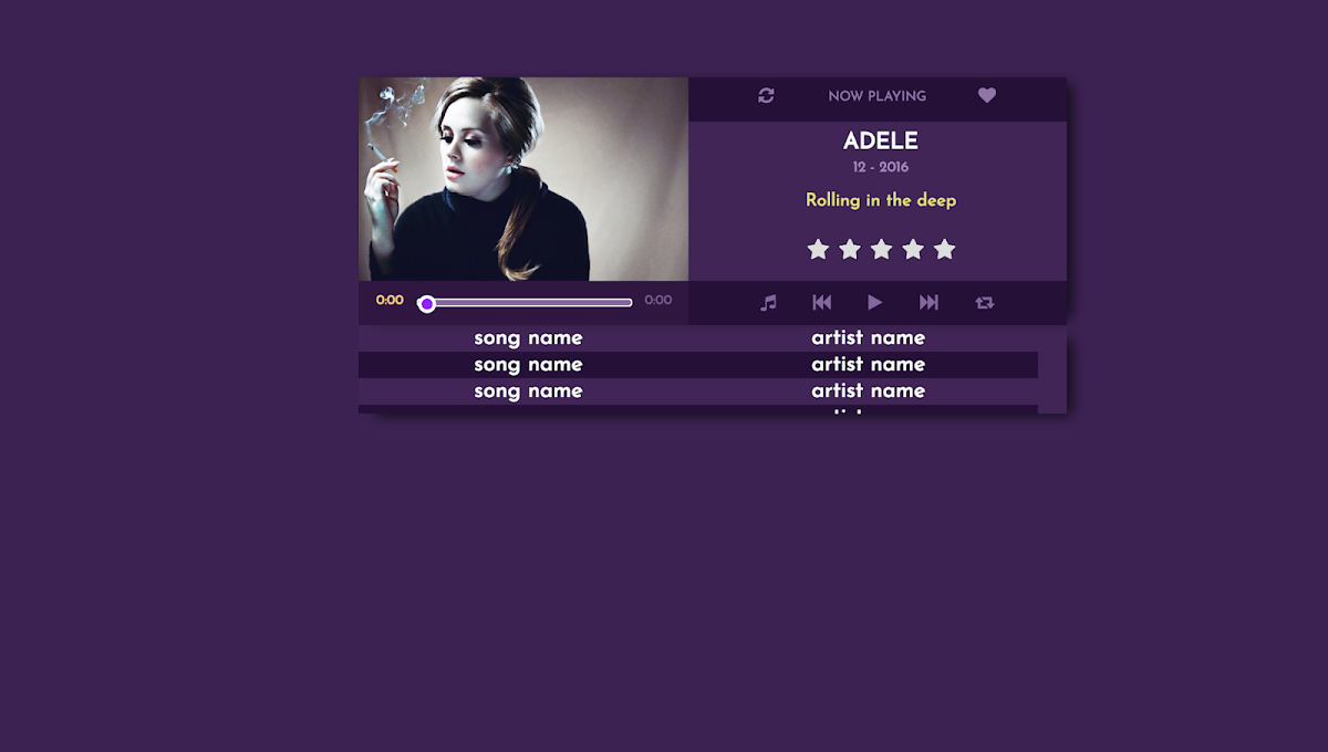 CSS Music Player