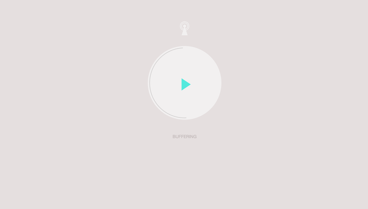 CSS only audio player UI