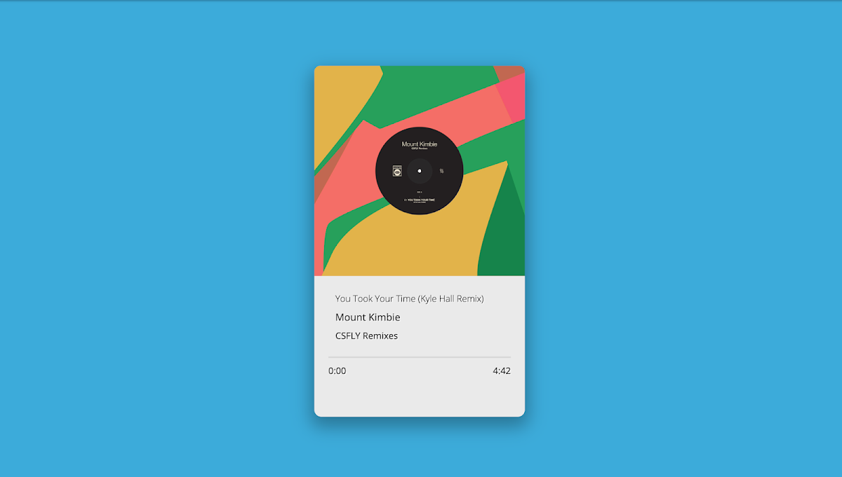 HTML5 Music player design