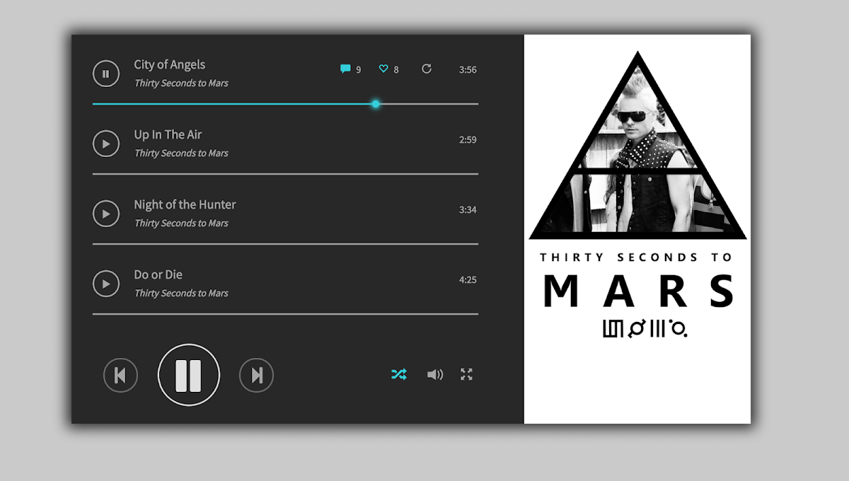 Music Player Layout