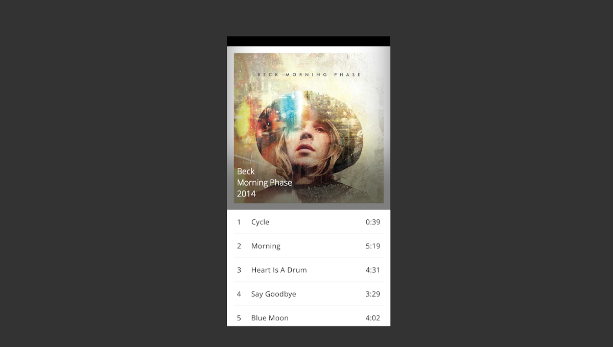 Rdio-like Music Player