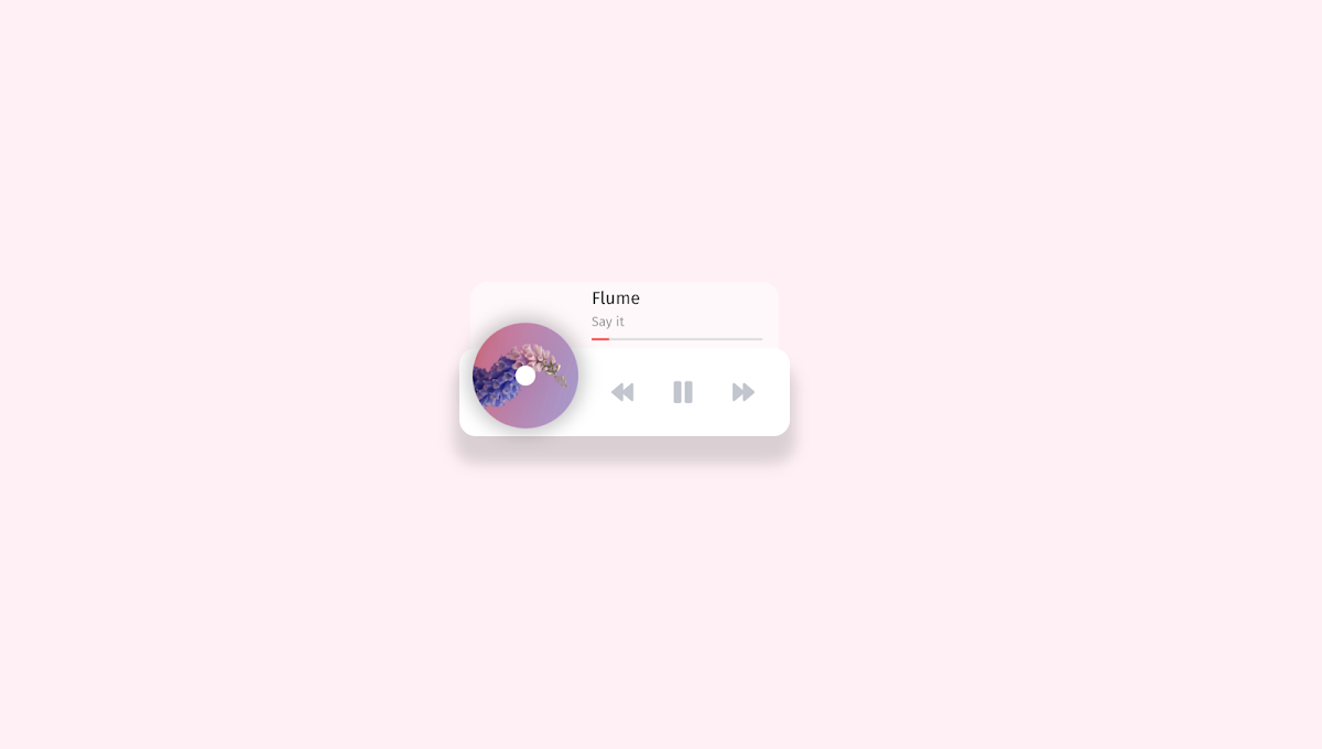Rotate animation disc music player