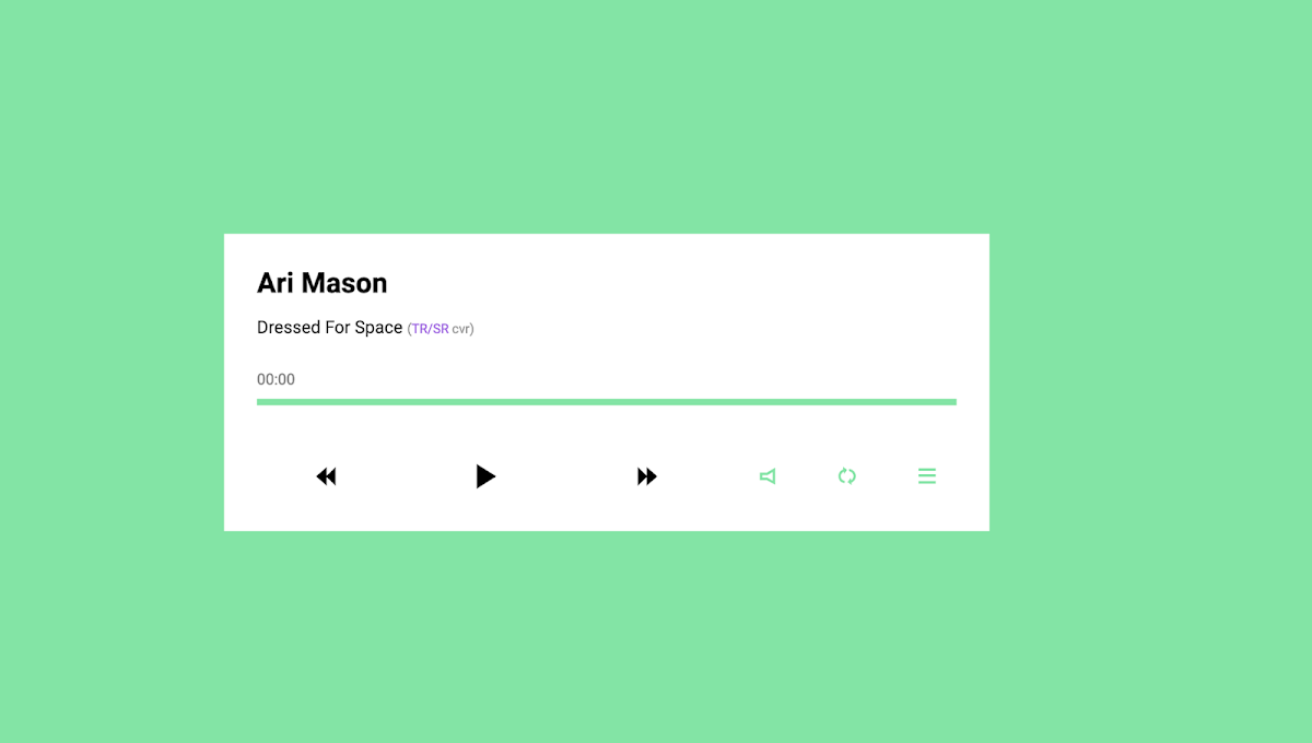 Simple responsive Music Player