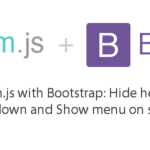 Headroom.js with Bootstrap: Hide header menu on scroll down and Show menu on scroll up 30
