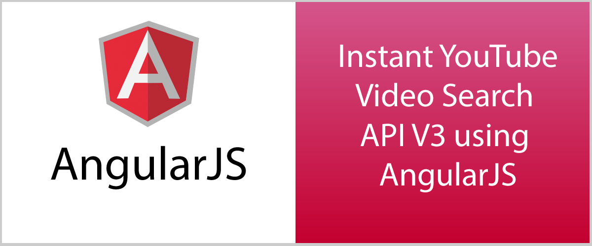 AngularJS: Instant YouTube video search API V3 Version tutorial 8