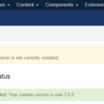 Joomla 3 - Refresh Manifest Cache failed: Extension is not currently installed 8