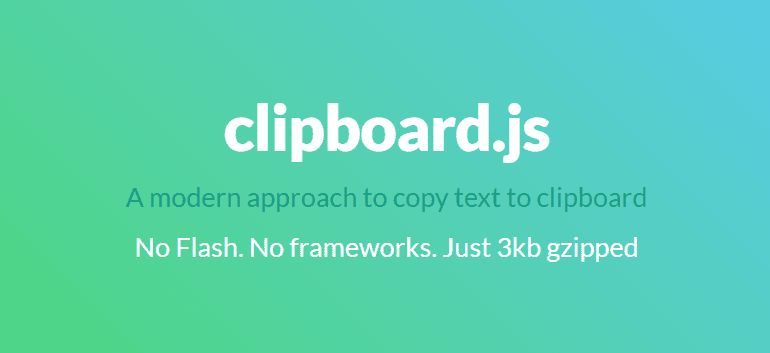 copy to clipboard using JavaScript 6
