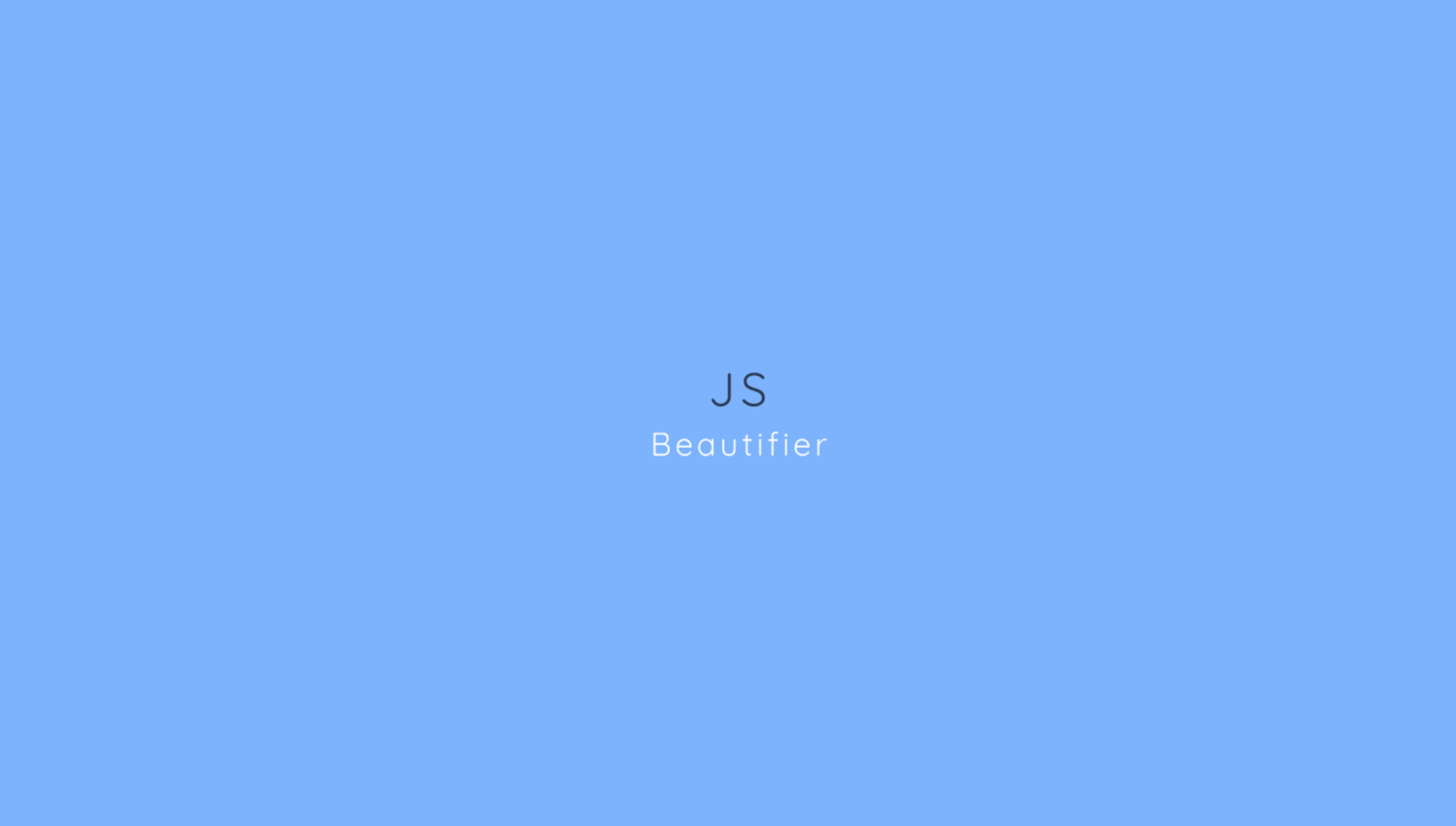 JavaScript Beautifier 8