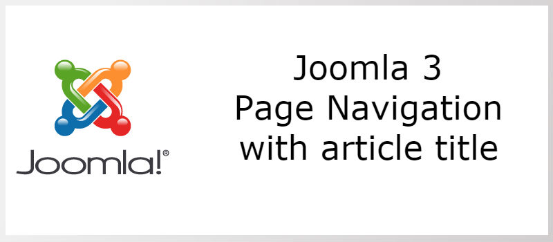 Joomla 3 - Page Navigation With Titles 8