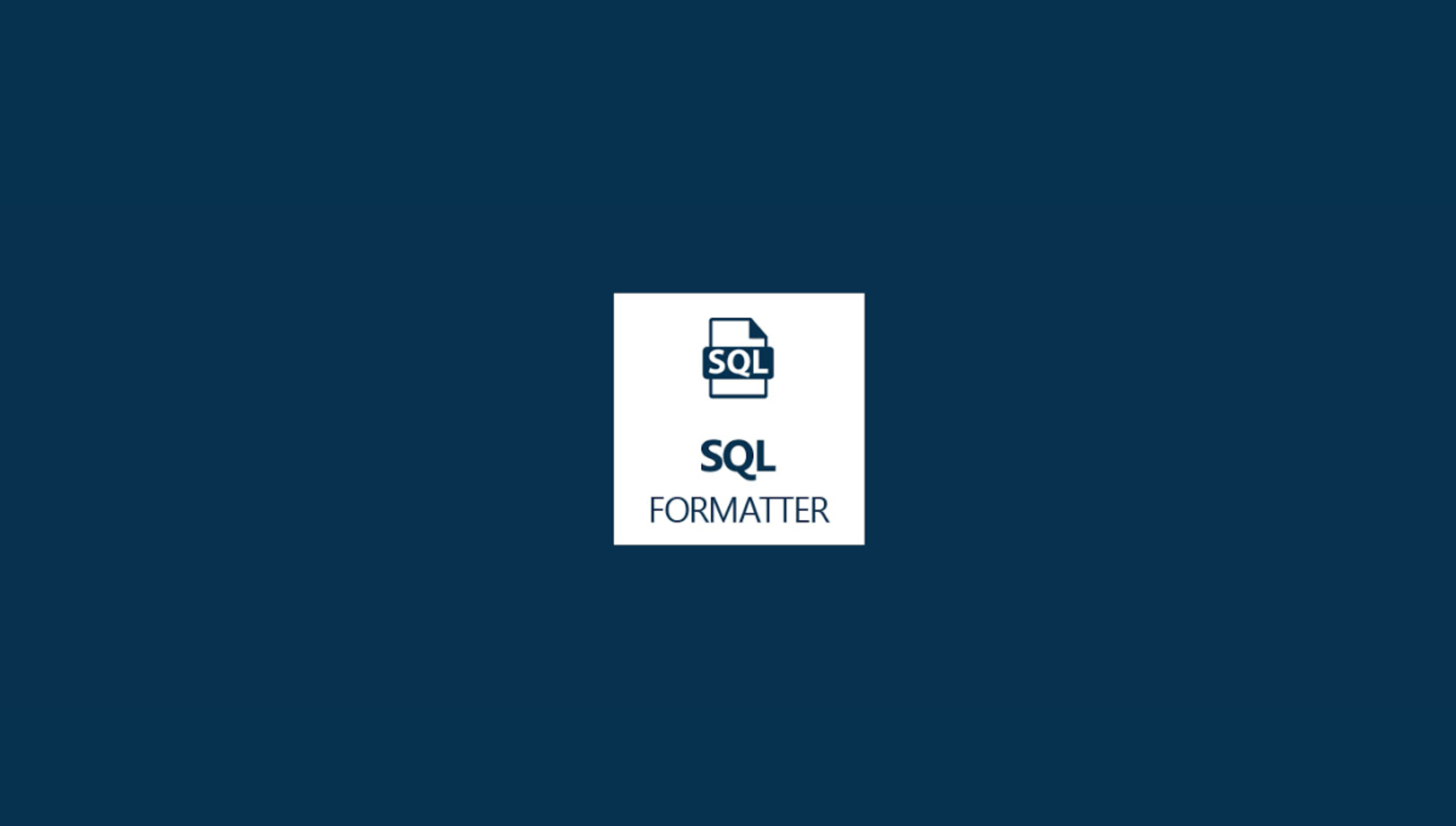 SQL Beautifier 87