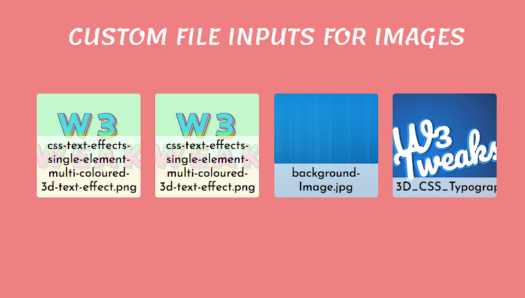 Instant image preview using custom file inputs 15