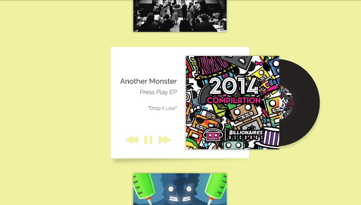 76 Hand Picked CSS Music Players 11
