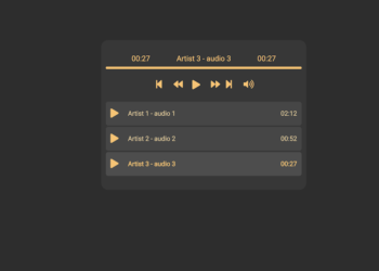 76 Hand Picked CSS Music Players 3