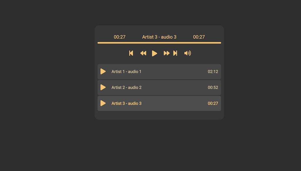 HTML Audio Player 3