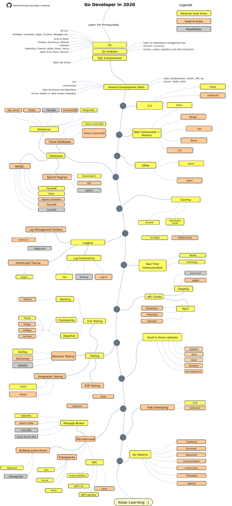 Roadmap to becoming a Go developer in 2020