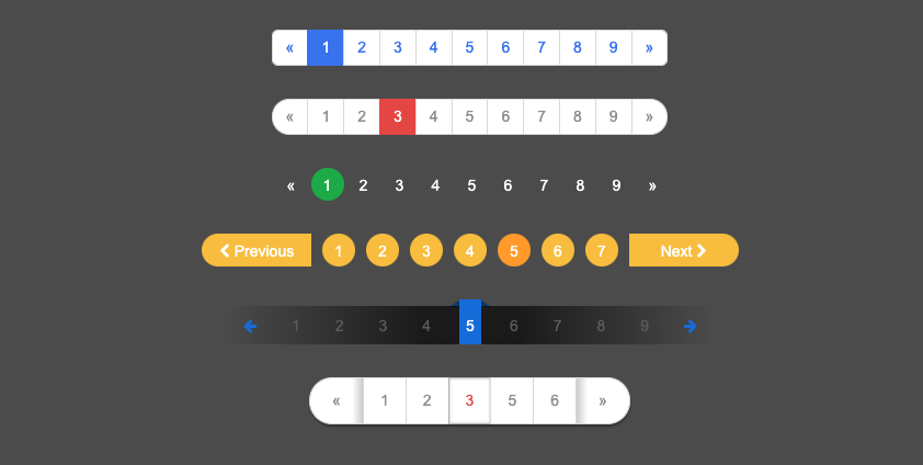Pure CSS: Collection of Pagination