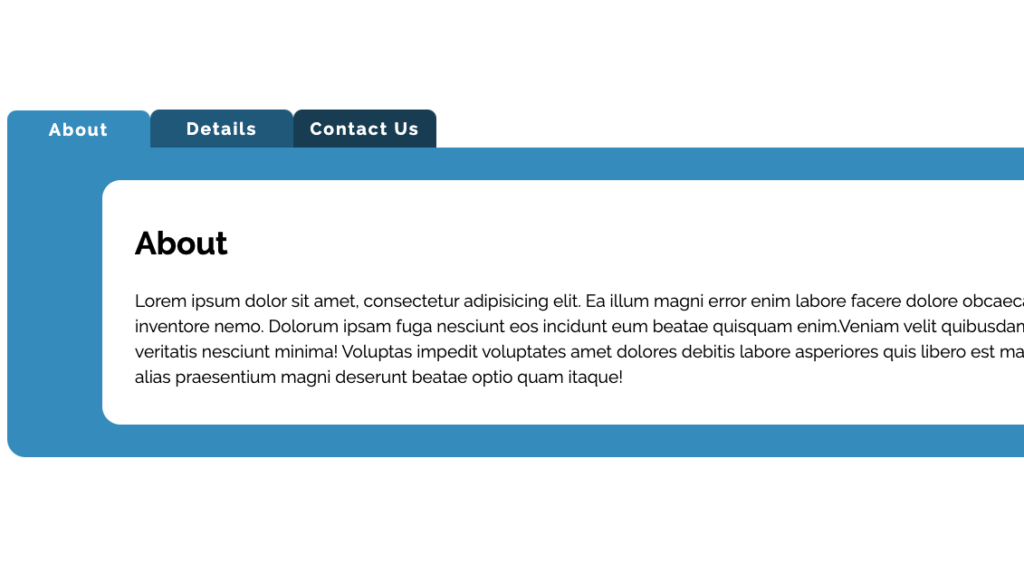 Responsive Tabbed Content